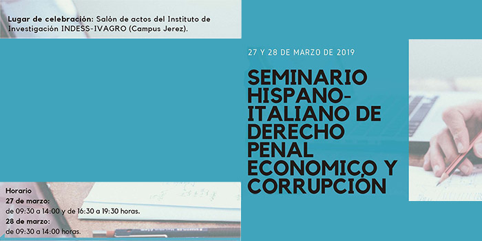 Seminario Hispano-Italiano de Derecho Penal Económico y Corrupción